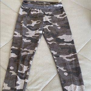 Perfectly Soft grey camo leggings